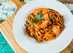 Garlic and Chilli Prawn Pasta
