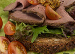 Roast Beef and Mustard Open Sandwich