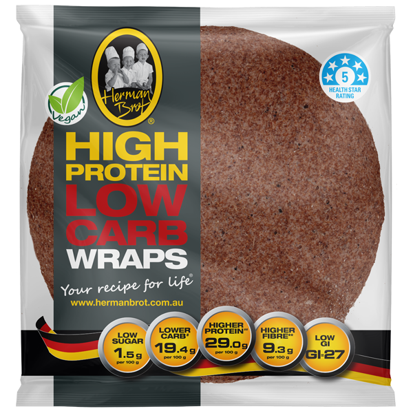 Herman Brot Product Page Low Carb Wraps